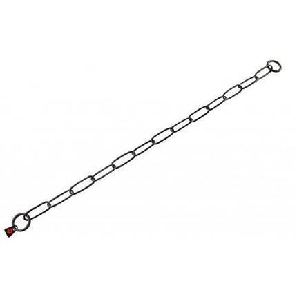 Ошейник-цепь Sprenger Long Link для собак, с широким звеном, черная сталь, 3 мм, 54 см, фото 2