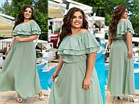 Женское нарядное платье в пол Софт шелк Размер 50 52 54 56 58 60 В наличии 4 цвета