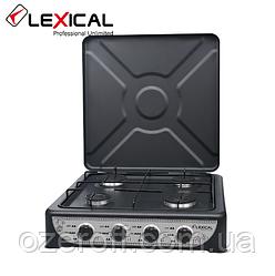 Газовая плита таганок LEXICAL LGS-2814-2 настольная на 4 конфорки