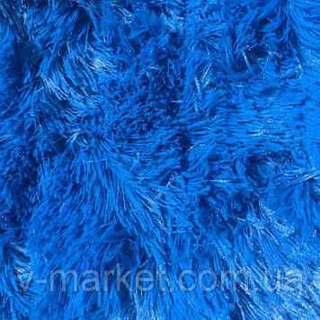 """Хутряний Плед Травичка """"Синій"""" євро розмір, 220/240 см"""