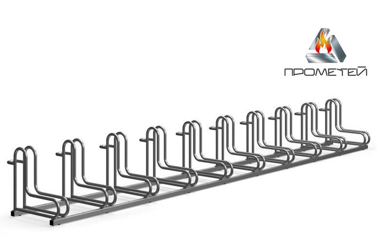 Велопарковки перпендикулярные, 10 секций