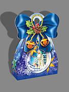 Упаковка для новогодних сладких подарков оптом на вес 500г, от 1 ящика