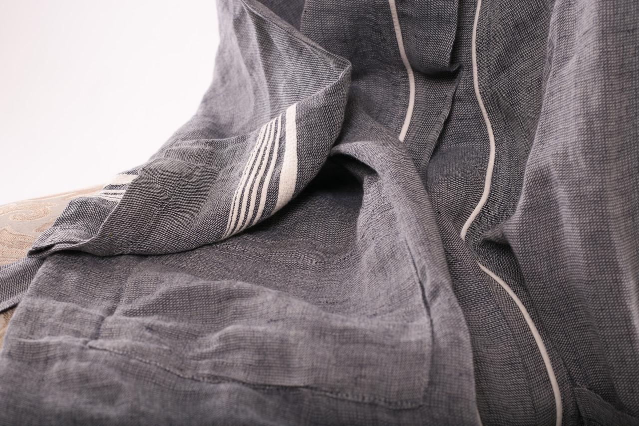 Халат серый Oyster льняной Muge Krespi