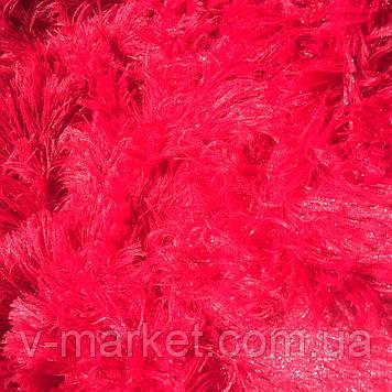 """Хутряний Плед Травичка """"Червоний"""" євро розмір, 220/240 см"""