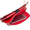 Женский клатч BUTUN 022-004-039 кожаный черный с красным, фото 3