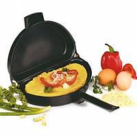 Двойная сковорода для омлета Folding Omelette Pan. Сковорода для омлета. Сковорода антипригарная. Омлетница., фото 1