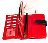 Жіночий гаманець клатч BUTUN 022-004-039 шкіряний чорний з червоним, фото 4