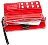 Жіночий гаманець клатч BUTUN 022-004-039 шкіряний чорний з червоним, фото 5
