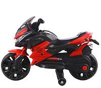 Детский спортивный электромотоцикл T-7233 (красный цвет)