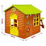 Дитячий ігровий будиночок 11045 Mochtoys столик, стілець, фото 3