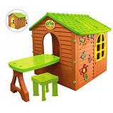 Дитячий ігровий будиночок 11045 Mochtoys столик, стілець, фото 2