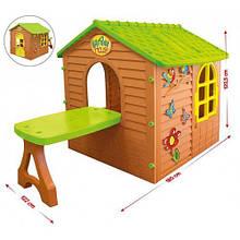 Детский игровой домик 11045 Mochtoys столик, табурет
