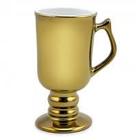 Оригинальная чашка кубок золотая