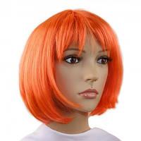 Парик из искусственных волос каре (оранжевый)