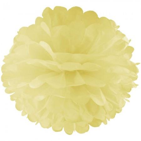 Бумажные помпоны для декора 35см (шампань 0017)