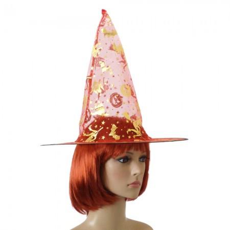 Капроновая шляпа в форме колпака (красная)