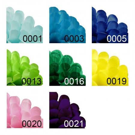 Шар цветок для оформления праздника бумажные 20см (голубой 0001), фото 2