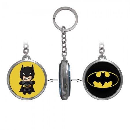 Металлический двусторонний брелок для ключей  Супергерои Бэтмен