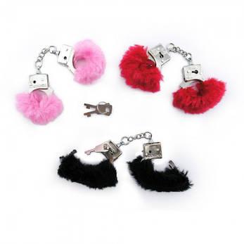 Меховые наручники для пальцев (розовые), фото 2
