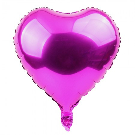Фольгированный шар 45 см Сердечко малиновое