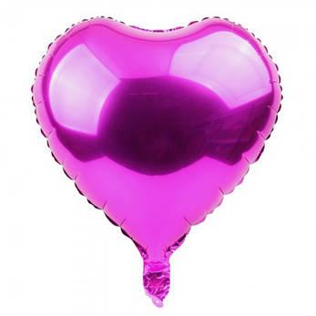 Фольгированный шар 45 см Сердечко малиновое, фото 2