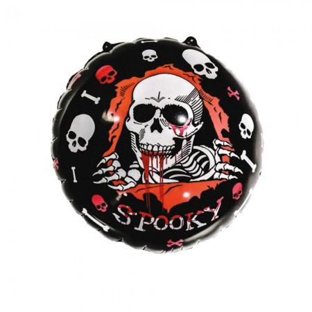Фольгированный шар 45 см Хэллоуин Череп