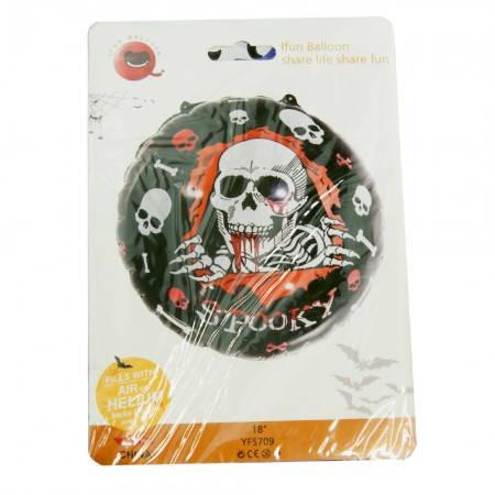 Фольгированный шар 45 см Хэллоуин Череп, фото 2