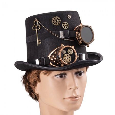 Цилиндр шляпа в стиле стимпанк Доктор Бенедикт 9126-051