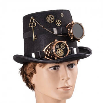 Цилиндр шляпа в стиле стимпанк Доктор Бенедикт 9126-051, фото 2