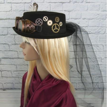 Цилиндр шляпа в стиле стимпанк Медиум Лаура 9191