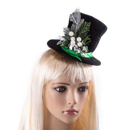 Новогодняя маскарадная шляпка Ноэль 9218