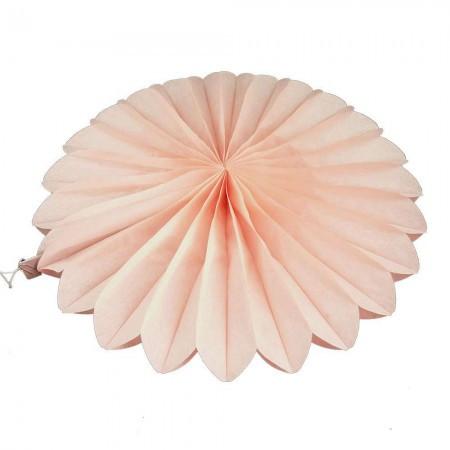 Бумажная гирлянда веерные вертушки (тишью) 25см (персиковый 0012)