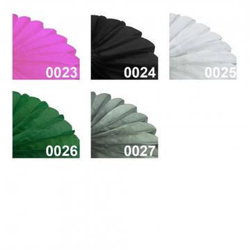 Бумажная гирлянда веерные вертушки (тишью) 25см (персиковый 0012), фото 2