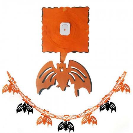 Бумажная гирлянда 3Д для праздника Хэллоуин с подвеской Летучая мышь, фото 2