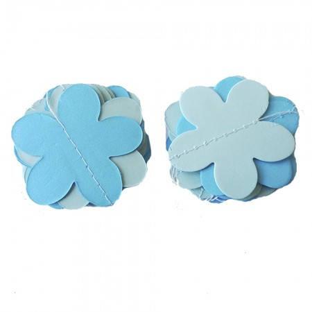 Бумажная гирлянда 3Д для праздника Цветы (голубой), фото 2