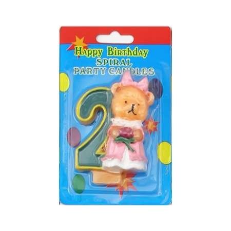 Свечи для торта цифры с Медвежонком 2