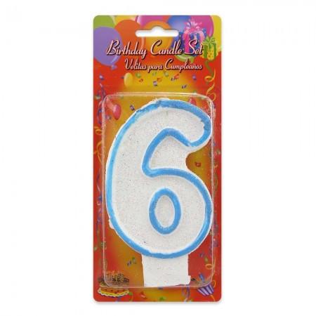 Свечи для торта цифры Большая 6