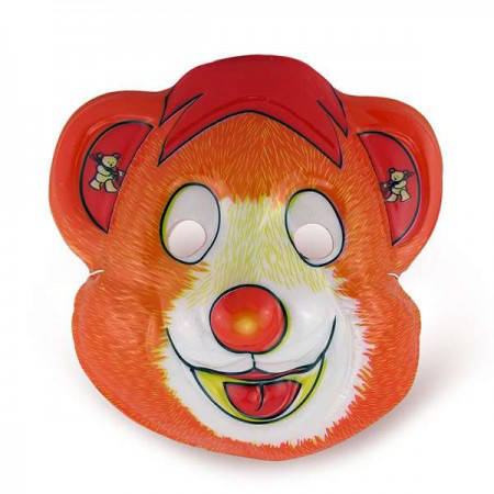 Детская карнавальная маска Мишка Гамми (уп. 12шт) пластик, фото 2