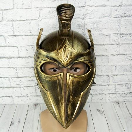 Пластиковый шлем война Трои (золото)