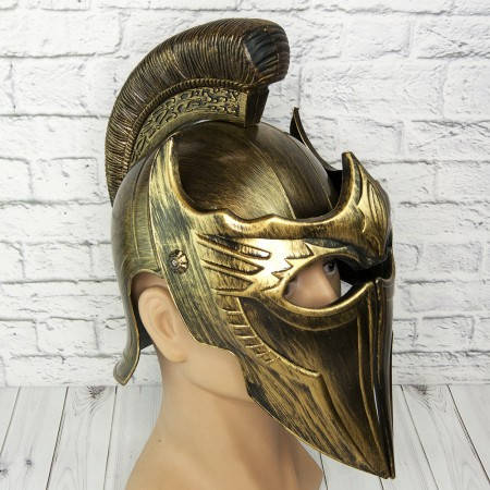 Пластиковый шлем война Трои (золото), фото 2