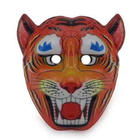Детская карнавальная маска Тигр (уп. 12шт) пластик