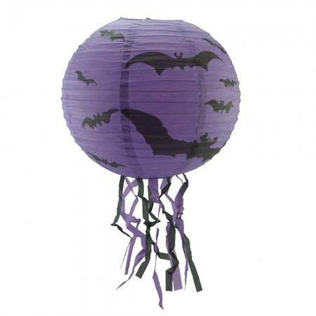 Подвесной декор для интерьера (40см) фиолетовый с летучей мышью, фото 2