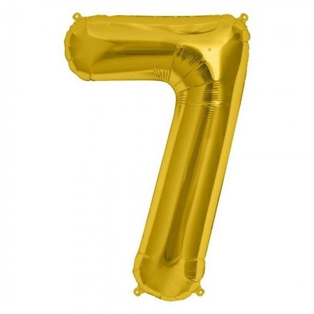 Фольгированный шар цифра (80см) золото 7