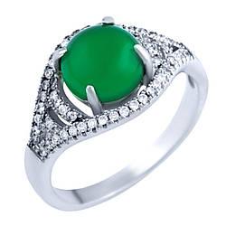 Серебряное кольцо GiftOne с натуральным агатом (0232201) 17.5 размер