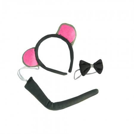 Детский набор мышки (хвост, ушки, галстук), фото 2