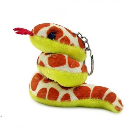 Оригинальный брелок в форме змеи мягкая средняя Пятнистая