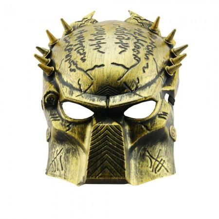 Карнавальные маски пластиковые  Хищник (золото)