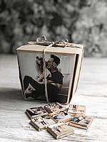 Черный шоколадный набор с фото «Хеппи моментс 20 шк»