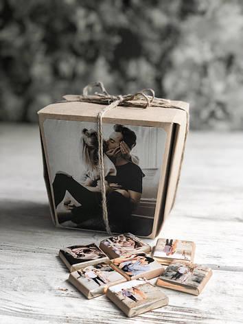 Черный шоколадный набор с фото «Хеппи моментс 40 шк», фото 2