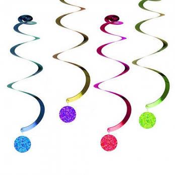 Подвесные декоративные спиральки Медальончик (уп. 6шт), фото 2